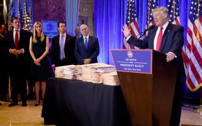 Como presidente electo, Trumpo dejó claro que no quería de...