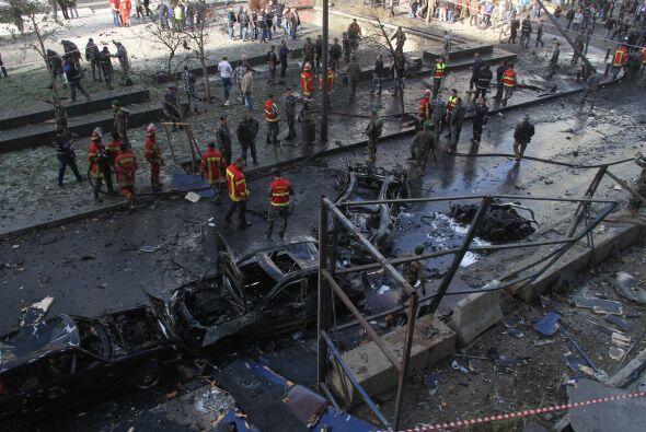 Líbano ha vivido una ola de atentados en los últimos meses...