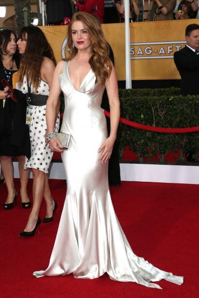 Isla Fisher dejó a muchos bizcos con ese escote. El vestido era una crea...