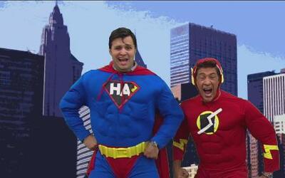 Los súper héroes salvaron al mundo con sus súper poderes