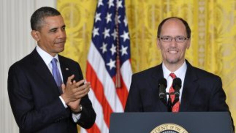 El presidente Barack Obama nominó hoy a Thomas Pérez como nuevo Secretar...