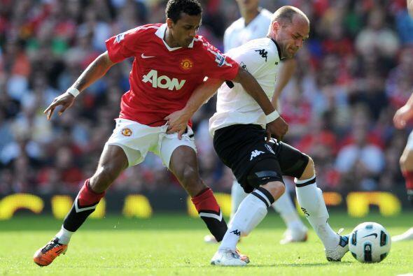El  jugador del partido fue el portugués Nani, quien volvi&oacute...
