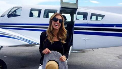 Lili Estefan se convirtió en el copiloto de su avión
