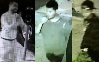 A estos tres individuos se les busca por su presunta participació...