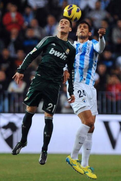 Ahora con el Málaga, Roque vivió una noche especial en el duelo con Real...