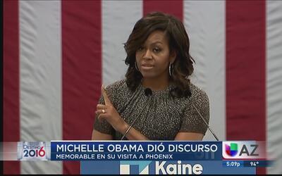 El memorable discurso de Michelle Obama en Phoenix