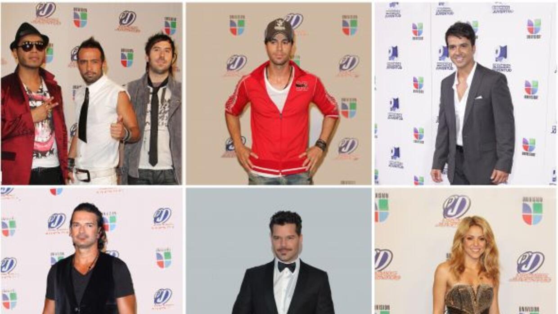 """Los seis nominados en la categoría """"Mi Artista Pop Favorito""""."""