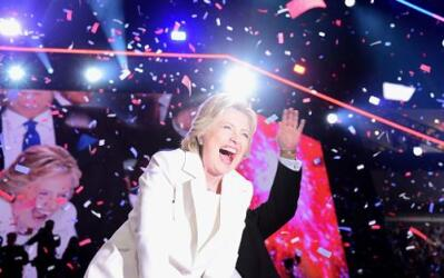 Hillary Clinton closes out the Democratic Convention