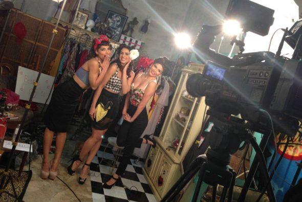 Las chicas grabaron un video para El Gordo y la Flaca.