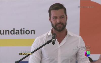 Ricky Martin no pudo ocultar la emoción al inaugurar en Puerto Rico un p...