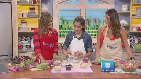 La hermanita de Maity, Hena Sofía, preparó un dip con guacamole y frijoles
