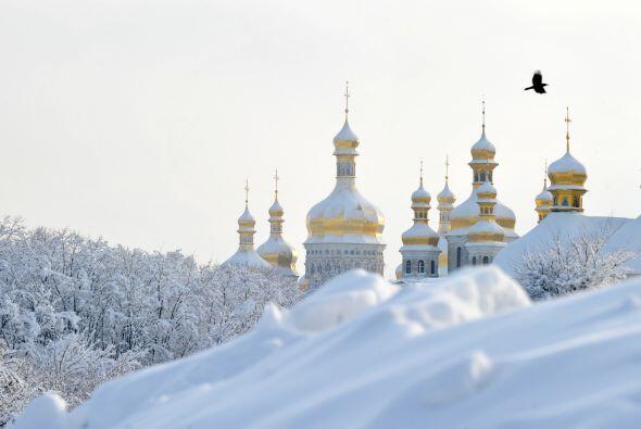 Kiev amaneció con 16 grados bajo cero, mientras que en algunas zo...