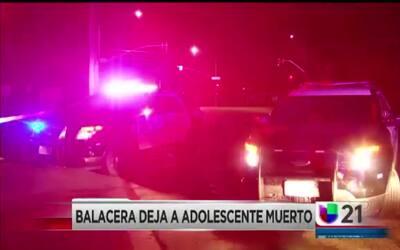 Balacera deja a adolescente muerto