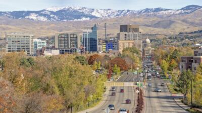 Vista de Boise, capital y ciudad más poblada de Idaho.