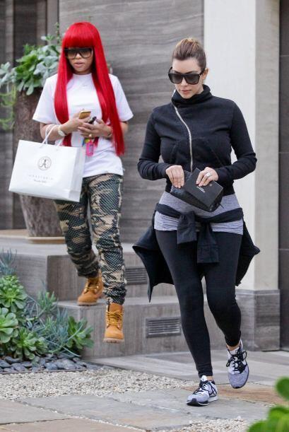 Blac Chyna y Kim Kardashian hace poco fueron pilladas yendo a un sal&oac...