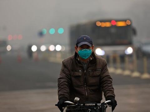 El aumento de los niveles de niebla tóxica causado por cientos de...