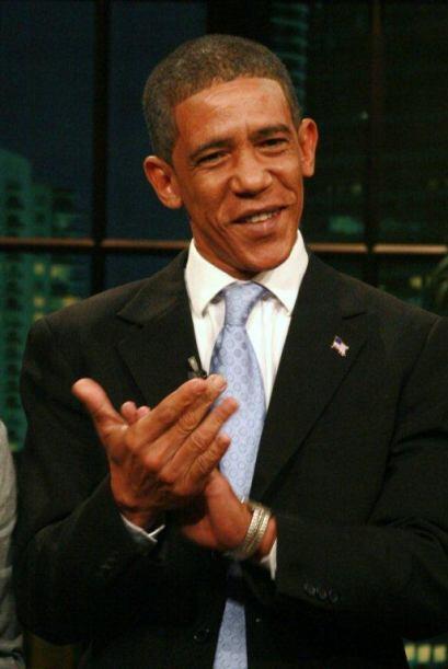 Aunque sólo se trataba de un imitador del Presidente, la jaur&iac...