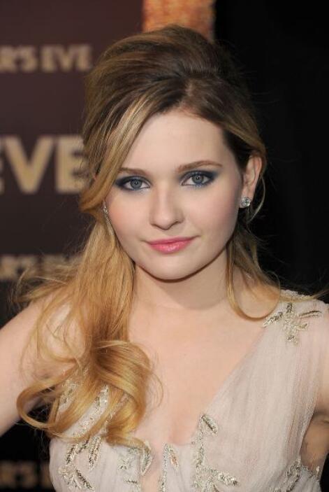"""Abigail en el estreno de su película """"New Year's Eve"""" en diciembre de 20..."""