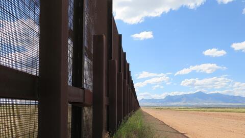 A piece of the border fence near Naco, Arizona.