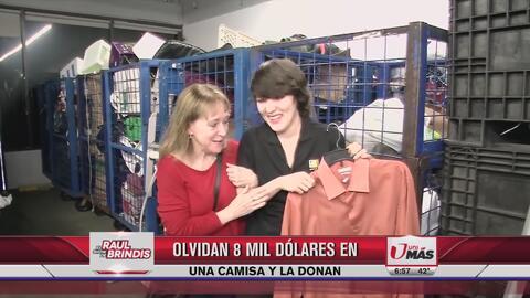 Olvidó 8 mil dólares en camisa que donó a Goodwill
