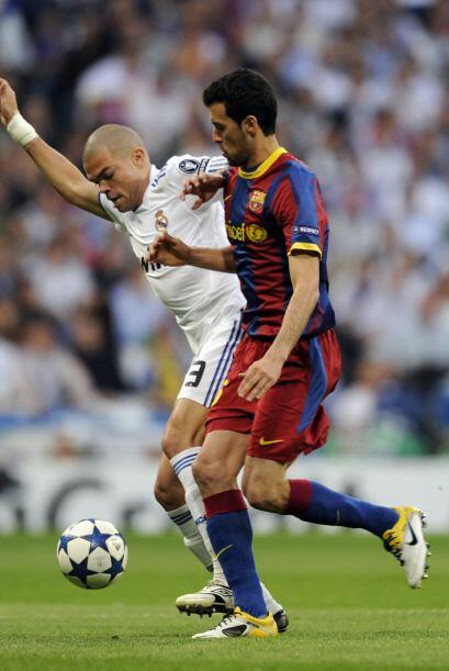 Pepe se volvió a verse bien en su labor de mediocampista.