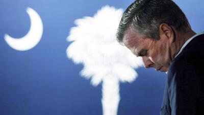 Jeb Bush en Beaufort, Carolina del Sur, el estado que forzó su partida