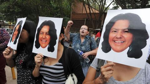 Protesta por asesinato de Berta Cáceres