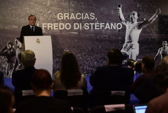 El Presidente del Real Madrid, Florentino Pérez, ofreció un emotivo disc...