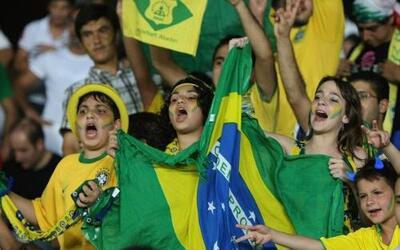 Los hinchas de Brasil están en todos lados.