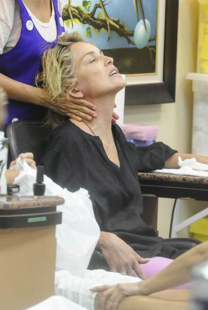 Un masaje personalizado, así como a doña Sharon le gusta.