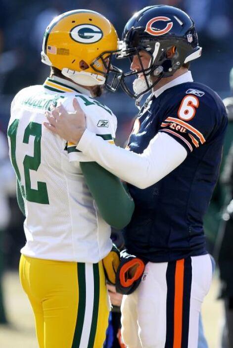Al inicio del encuentro entre los Packers y los Bears, por la Conferenci...