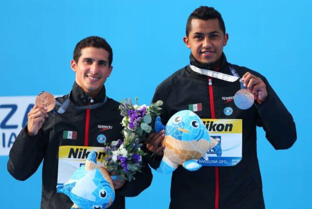 Pacheco y Ocampo se colgaron la medalla de Bronce en trampolín 3 metros...