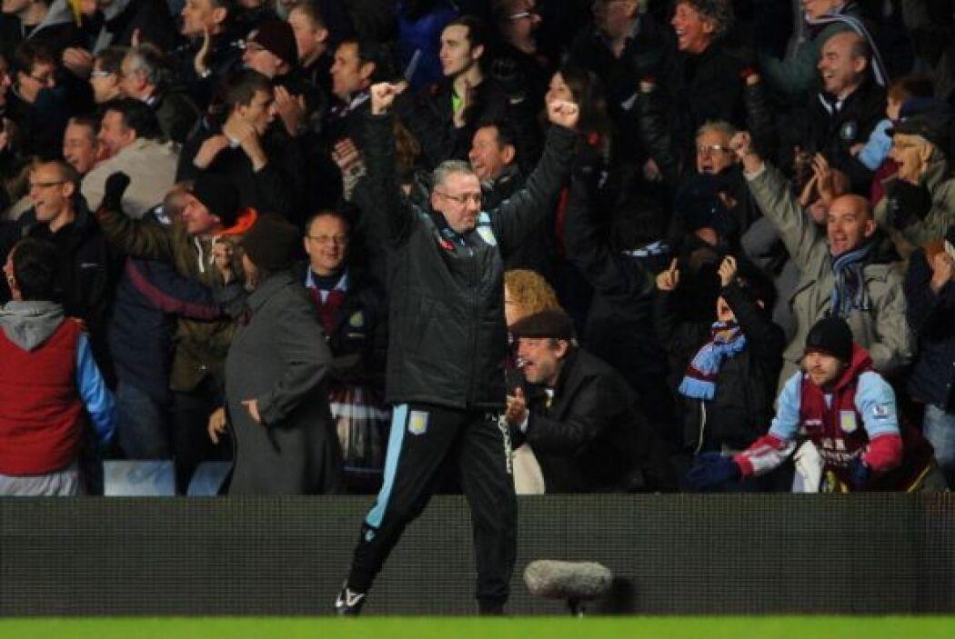 Aston Villa solo le había ganado una vez al Manchester en 33 enfrentamie...