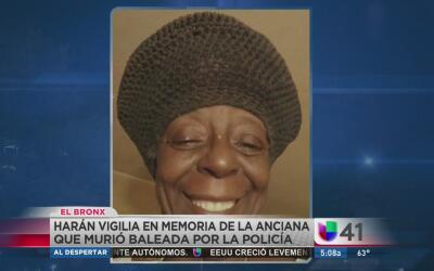 Vigilia por la abuela baleada por la policía