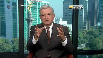 Andrés Manuel López Obrador no reconoce a Enrique Peña Nieto como presid...