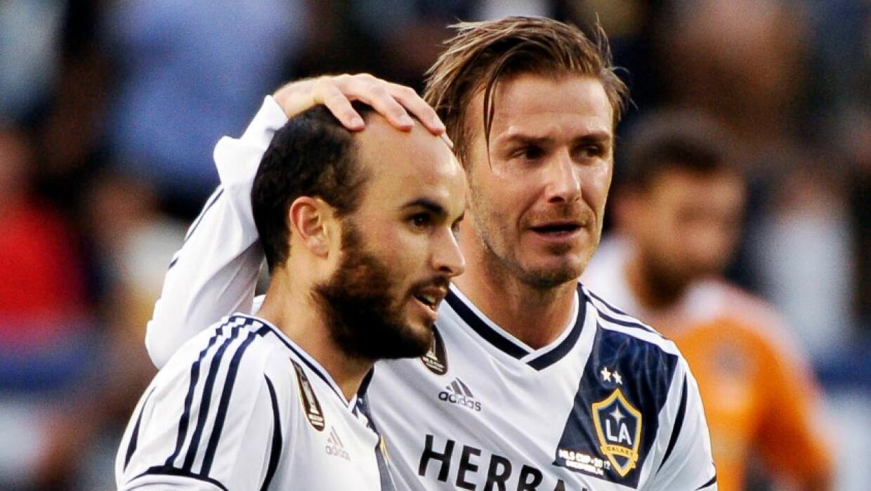 Landon Donovan y David Beckham