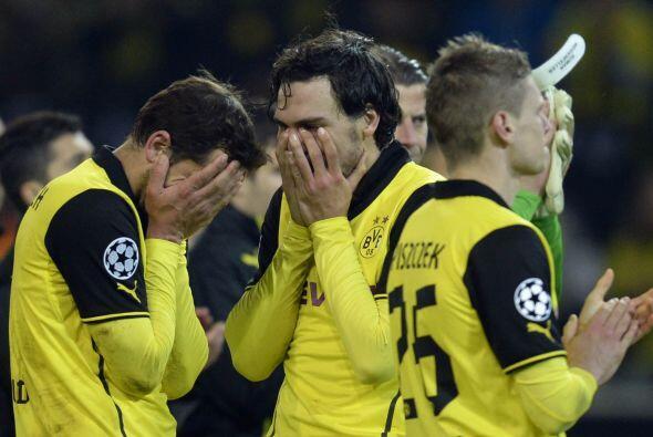 El desconsuelo entre los futbolistas del conjunto alemán era evidente pu...