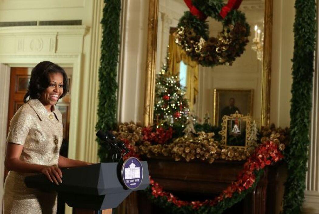 Michelle Obama, la primera dama de Estados Unidos, ofreció un anticipo d...
