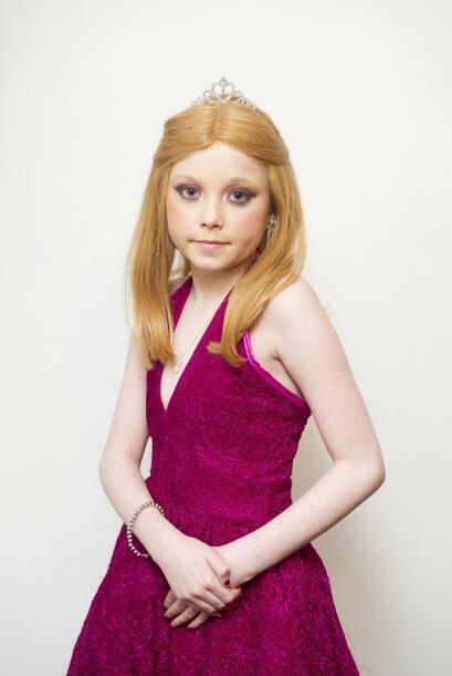 Al final, Helena lucía como toda una princesa, con su vestido, pe...