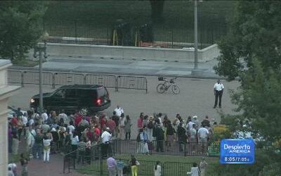 Un niño invade la seguridad de La Casa Blanca