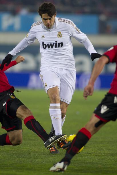 El brasileño Kaká activó la delantera del Madrid.
