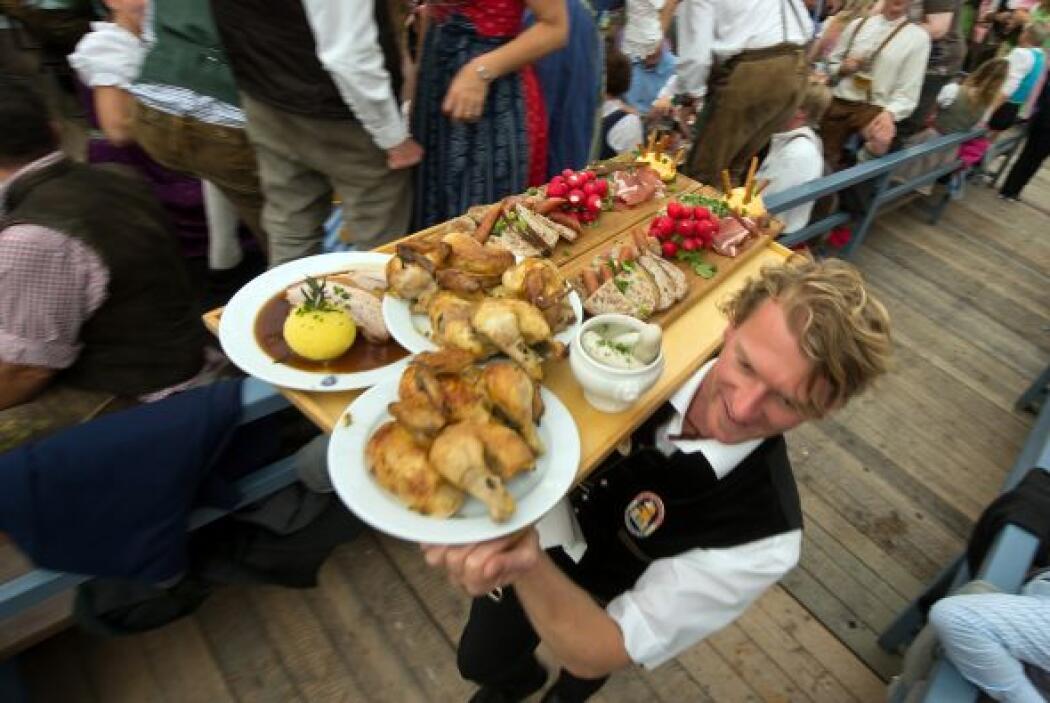 El festín que espera a algunos de los asistentes al Oktoberfest.