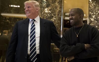 Donald Trump y Kanye West se reunieron en la residencia del presidente e...