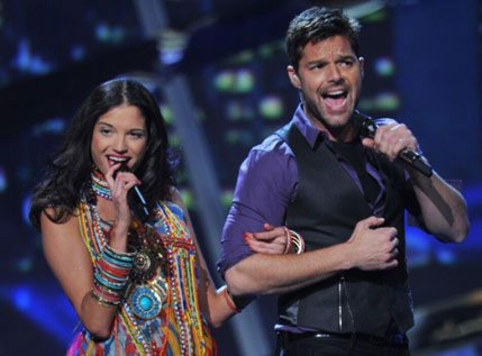 Ricky Martin y Natalia Jiménez nos pusieron a bailar en 2010.