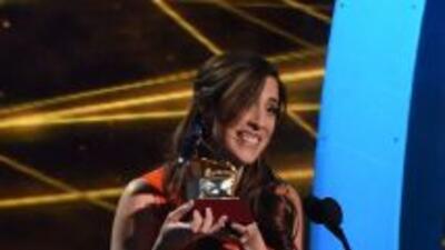 Mariana Vega ganó el Lati GRAMMY, durante la edición 2014, en la categor...