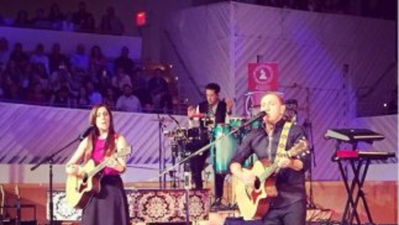 Mariana Vega compartió el escenario con Franco de Vita en las sesiones a...