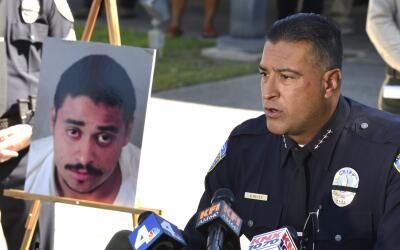 El jefe de Policía de Palm Springs, Bryan Reyes, habla del caso.