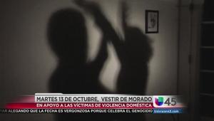 Morado, en apoyo a víctimas de violencia doméstica