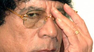 El ex líder libio Muammar Gadafi.
