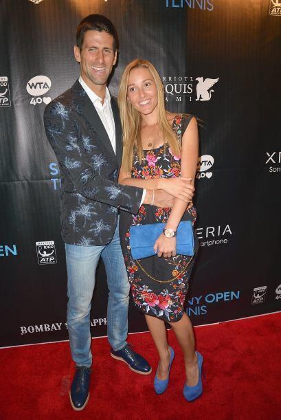 El jugador serbio Novak Djokovic llegó acompañado por esta...